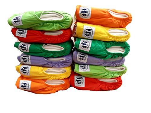 Pannolini di stoffa riutilizzabili in bambù naturale (2 inserti per ogni pannolino) - Pannolini di eco premium di Three...