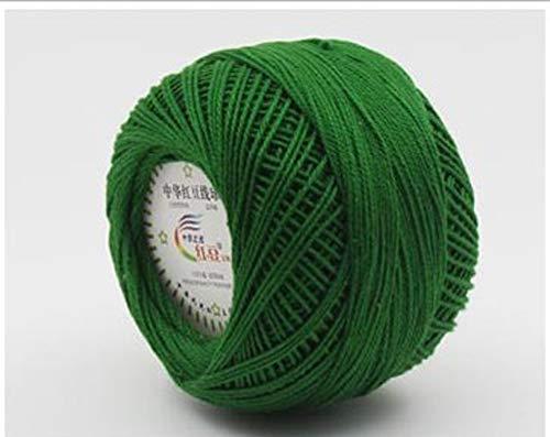 QINGTIAN Hilos de Ganchillo 100% algodón - El Hilo de algodón de Color Contiene - Bolas de Hilo de Ganchillo de algodón de 50 g para frivolité,Bordado,Patrones o Manualidades Hechas a Mano