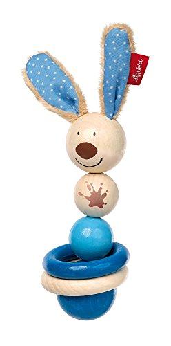 sigikid, Garçon, Hochet Anneau de Dentition Lapin, Semmel Bunny, Bleu, 75060
