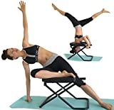 SISYAMA Fitness Yoga Headstand Chair Inversion Bench + Workout Manual Longer Wider Bigger Feet Up Trainer