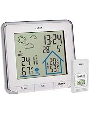 TFA Dostmann Stacja pogodowa Funk Life, cyfrowa, radiowa stacja pogodowa, wilgotność powietrza, temperatura, z podświetleniem, symbole pogodowe, kolor biały