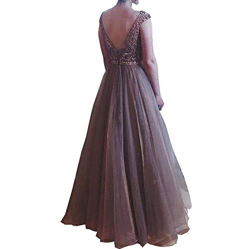 Hübsche Kleid Kleider Dress Damen Damen Chiffon Langes Kleid Abendparty Ballkleid Frau Kleid Off Shouder Damenmode Maxikleider-Apricot_S