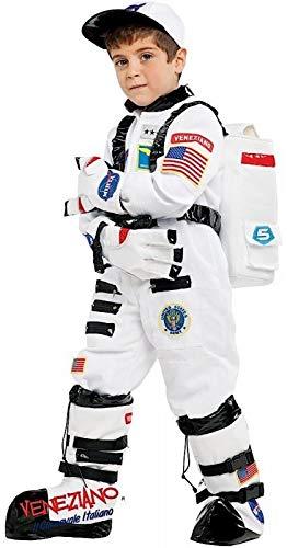 Fancy Me Italienisches Kostüm für Jungen, Motiv: Weltall, Astronaut, Karneval, Halloween, Buchtag, Woche, Kostüm, Outfit, Weiß