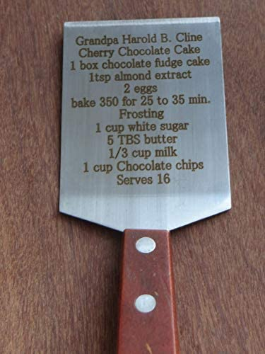 Personalized engraved cookie spatula engraved dessert spatula engraved recipe spatula customized product image