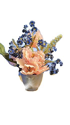 Small Tabletop Silk Time sale Arrangement Indefinitely Decorati Tulip Floral
