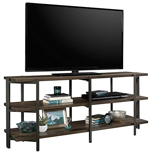 "Sauder North Avenue Contemporary Wood and Metal 55"" TV Stand in Smoked Oak"