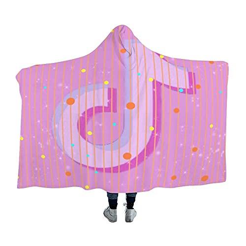 Kgblfd T-ik Tok - Manta suave y cálida con capucha para hombres, mujeres, adolescentes, 150 x 150 cm