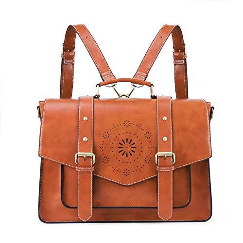 ECOSUSI Women Briefcase 15.6 inch Laptop Messenger Bag Large School College Satchel Rucksack Shoulder Bag