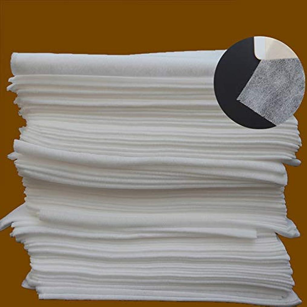 恵み意外やりすぎ旅行スパサロンワックスマッサージトリートメント用ホワイト10個使い捨てベッドシーツ - ホワイト
