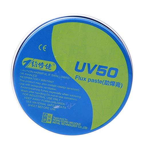 MCN-UV50 Pasta fundente para soldadura, estaño fundente, fundente para cautín eléctrico, amarillo,...
