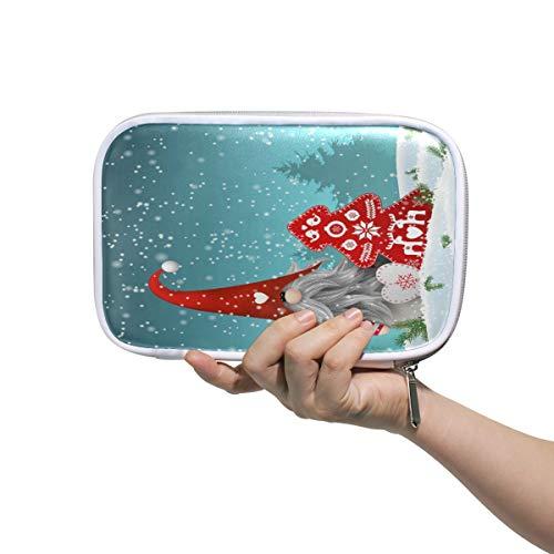 RXYY Federmäppchen Weihnachten Nisser In Norwegen Dänemark Tomtar Schweden Tonttu, Halter Mäppchen Reißverschluss Schreibwaren Reise Beutel Bürste Kosmetik Stifttasche für Schule Mädchen Jungs