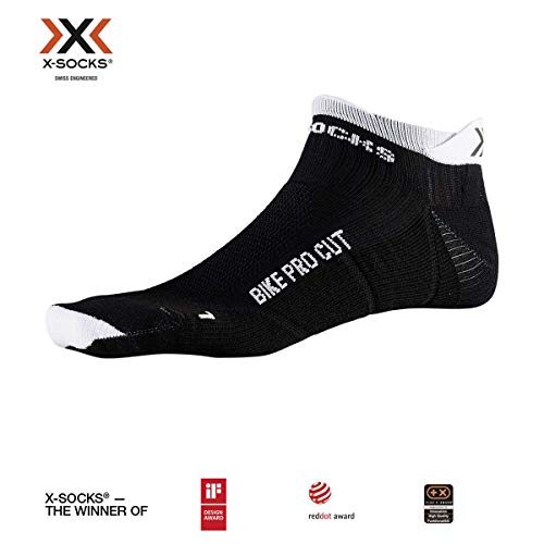 X-Socks Socks Bike Pro Cut, Opal Black/Arctic White, 42-44, XS-BS07S19U-B002-42/44