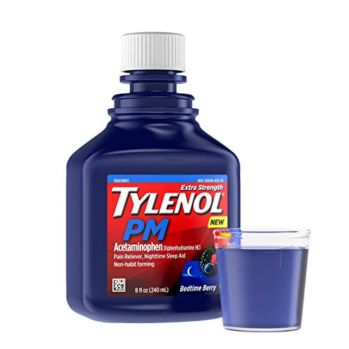 Tylenol PM Extra Strength Liquid Diphenhydramine HCI/Acetaminophen Sleep Aid/Pain Reliever, 8 fl. oz
