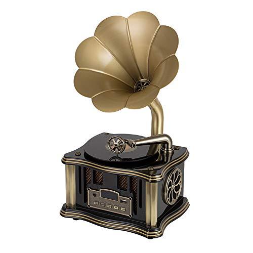 Blusea 8831A Mini Grammofoon BT4.2 dubbele track USB-speler FM-radio afstandsbediening twee hifi-luidsprekers Phonograaf