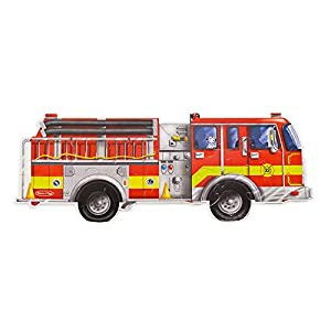 Melissa & Doug Giant Fire Truck Floor Puzzle (24 pc)