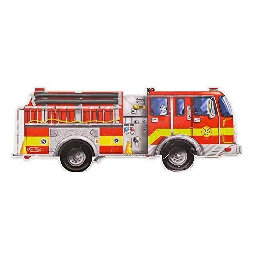 Melissa & Doug - 436 - Puzzle - Camion Pompiers - 24 Pièces