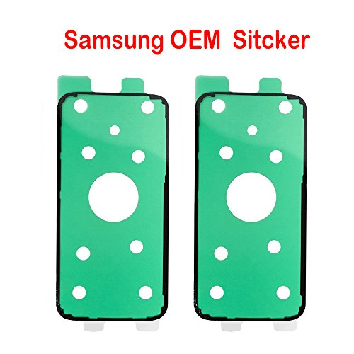 2 Pack Samsung OEM Original Back Rear Cover Battery Cover Sticker Adhesive Glue Tape for Samsung Galaxy S7 G930 (All Carriers)