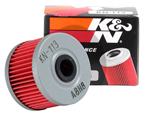 K&N Motorcycle Oil Filter: High Performance, Premium, Designed to be used with Synthetic or Conventional Oils: Fits Select Honda ATV Models, KN-113