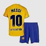 Conjunto Camiseta y pantalón 2ª equipación FC. Barcelona 2019-20 - Replica Oficial con Licencia - Dorsal 10 Messi - Niño Talla 8