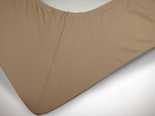 klassisches Jersey Spannbetttuch – erhältlich in 22 modernen Farben und 6 verschiedenen Größen – 100% Baumwolle… - 6