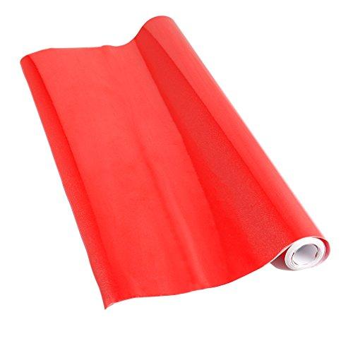 Kinlo - Pellicola adesiva lucida – rosso – pellicola adesiva – 5 m x 61 cm – pellicola plotter – pellicola autoadesiva – anche come pellicola per mobili – Pellicola da cucina