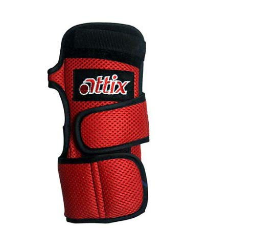 ATTIX Red Bowling Wrist Support Right Hand Gloves Bowl...