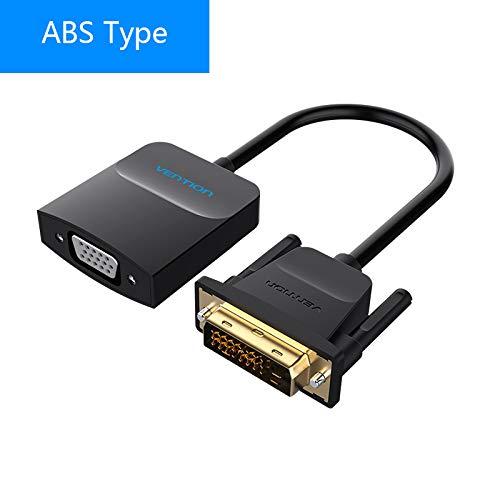 CIVIQ Vention DVI D To VGA Adapter DVI 24+ 1 VGA Converter Cable Digital Analog Audio Converter 1080P for Xbox PS3 Laptop TV Box