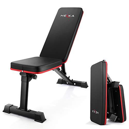 HEKA Sgabello regolabile con manubri Panca addominale Panca pieghevole Panca per sedersi Panca per esercizi fitness Sedia da allenamento Schienale per allenamento multifunzionale