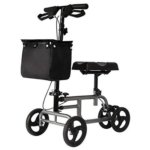 GEHHILFEAID rollator met vier wielen met remstoel en tas ultralichte allradhilfe verstelbare hoogte voorvak
