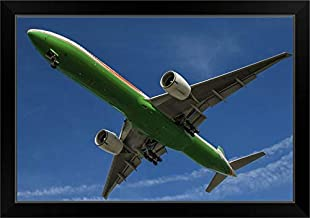 CANVAS ON DEMAND an EVA Airways Boeing 777-300ER Black Framed Art Print, 27