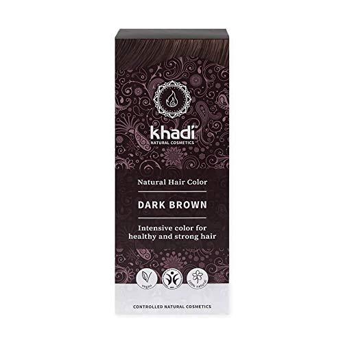 Khadi Bio Couleur cheveux marron foncé – 100 g