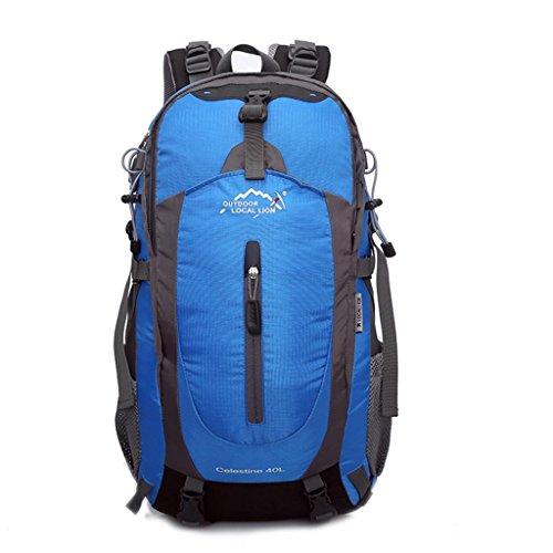 Local Lion borsa zaino unisex sportivo outdoor campeggio ciclismo viaggio trekking (blu)