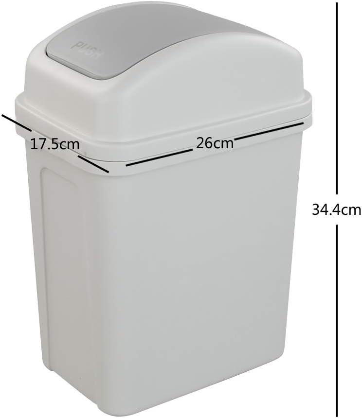 Plastic Garbage Bin Asking 7 L Small Trash Bin with Swing-top Lid Pink