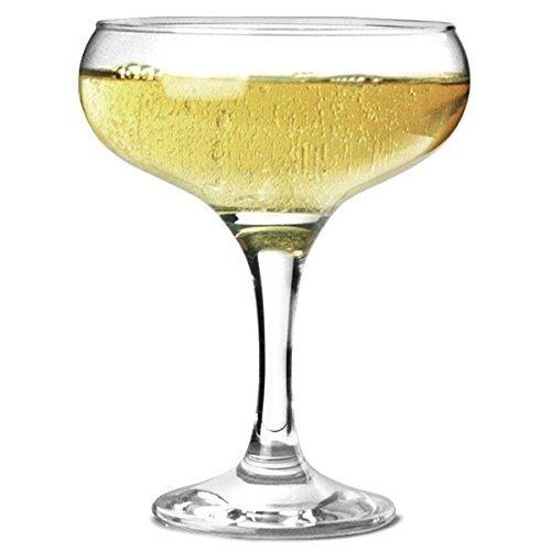 PASABAHCE lot 6 Coupes de Champagne en Verre - apéro