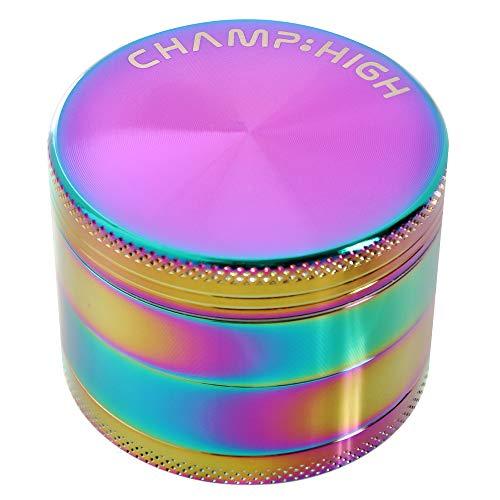CHAMP HIGH - Broyeur à tabac & herbes aromatiques - 4 parties et dents de diamant - Design compact Aluminium - Nombreux coloris disponibles