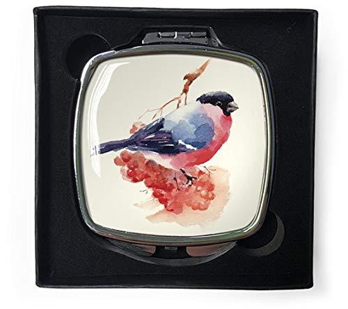 Tuin Vogels Bullfinch Compact Spiegel in Geschenkdoos