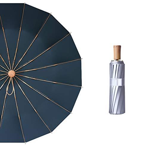 Accesorios del coche Hfbwjfhgdj 16 costilla bolsillo mini paraguas titanio plata anti UV sol lluvia 3 plegable para las mujeres