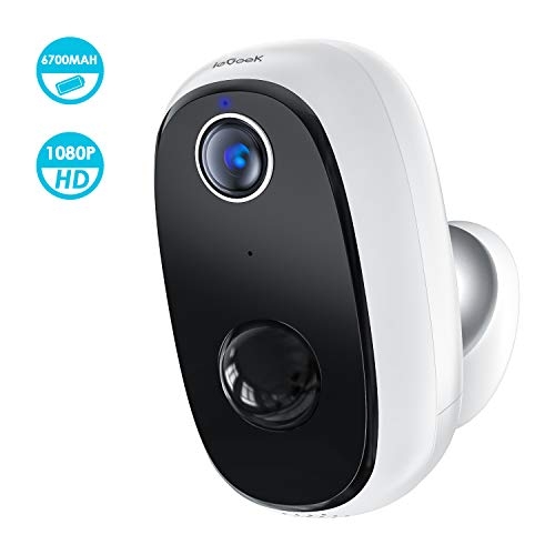 Wireless Outdoor Security Camera, Rechargeable Battery Powered, WiFi Home Indoor Surveillance with 1080p, PIR Motion Detection, Night Vision, 2-Way Audio, Cloud & MicroSD Card Storage, Smartphone App Bullet Cameras