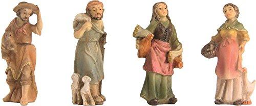 Statuina Accucciata,Zusatzfiguren 4-teilig,Altezza circa 3,5cm