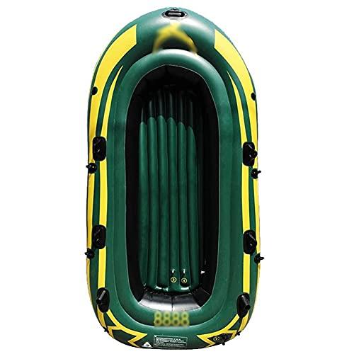 Priority Culture Kayak Hinchable Portátil Piragua Inflable Puede Soportar 200 Kg / 300 Kg Canoa para Mar con Bomba De Pie Apto para Salir Al Mar Y Pescar (Color : Green, Size : 190 * 98cm)
