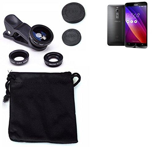 3in1 Asus ZenFone 2 Lenti FishEye (180°) Grandangolo (0.67x) Macro Obiettivi Smartphone Cellulare Obiettivi Smartphone- K-S-Trade