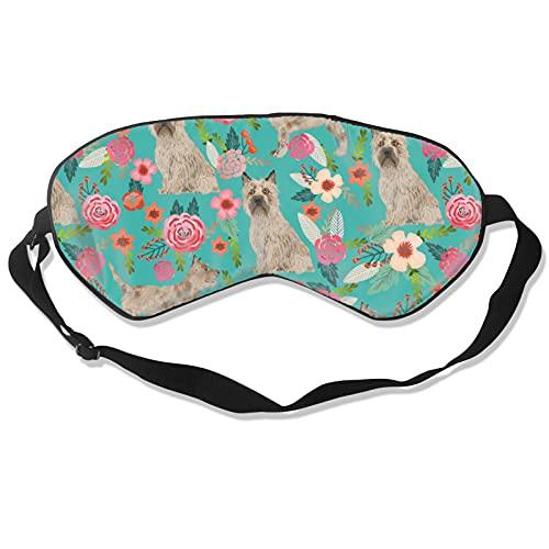 Cairn - Máscara de dormir para perro, color blanco y negro, para dormir con los ojos vendados, almohada de algodón suave para mujeres y hombres, viaje siestas personalizadas