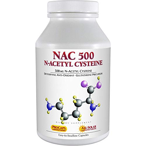 Andrew Lessman NAC-500 N-Acetyl Cysteine 180 Capsules – Helps Combat Daily Onslaught of Damaging Free Radicals, Protects Brain, Heart, Lungs, Liver and Kidneys. Detoxifying Anti-oxidant. No Additives