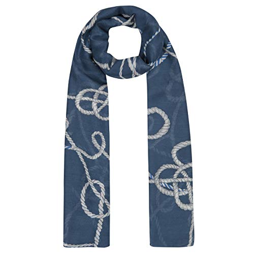 CODELLO Damen Maritimer XL-Schal aus luftiger Viskose