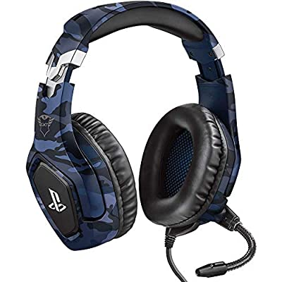 Trust Gaming GXT 488 Forze-B [Officially Licensed for PlayStation] Gaming Headset for PS4 and PS5 with Flexible Microphone and Inline Remote Control - Blue from Trust Gaming