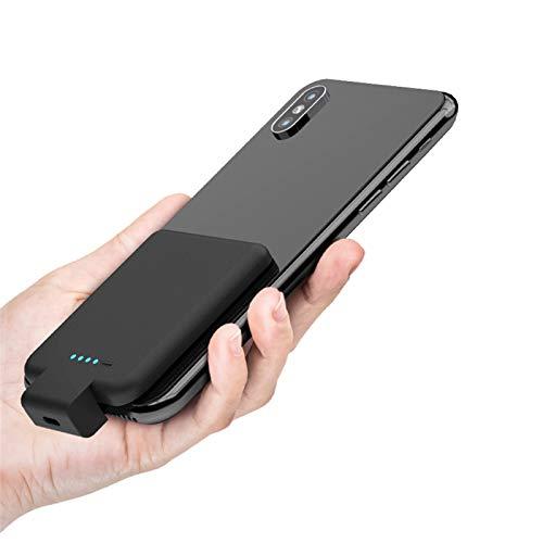 Banco de energía portátil de 2800 mAh, cargador externo con clip de carga rápida, apto para todos los teléfonos inteligentes y fundas de teléfono móvil App (color: rojo).