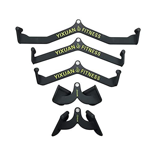 BLWX Mango para Tiradores Laterales, Barra en T para Remo de Fitness, Accesorios para máquina de Cable de polea con Barra en V, manija de Barra de Prensa de tríceps para Gimnasio en casa