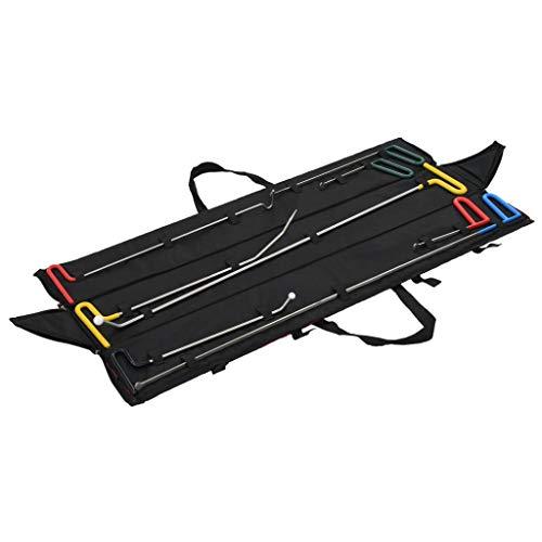 vidaXL Kit Reparación Abolladuras Coche 8 Pzas Set Herramientas Reparar Carrocería Chapa Golpes Abollones Sin Pintura Automóviles Motos Vehículos