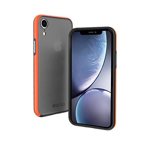 "Eono by Amazon Funda para iPhone XR (6.1""), Anti-Choques y Anti-Arañazos Carcasa, Híbrida TPU + PC Moda Teléfonos Case, Translúcido Cubierta para Apple iPhone XR - Mate Negro"