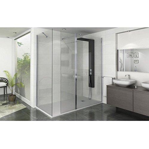 Mampara de ducha Mobile Single cristal 8 mm 30 x 200 cm: Amazon.es: Bricolaje y herramientas